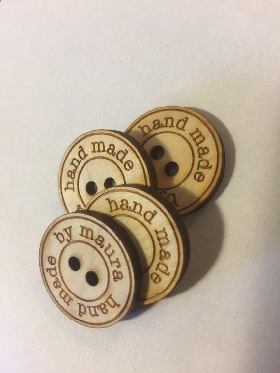 """Custom 1"""" laser cut buttons, set of 4"""