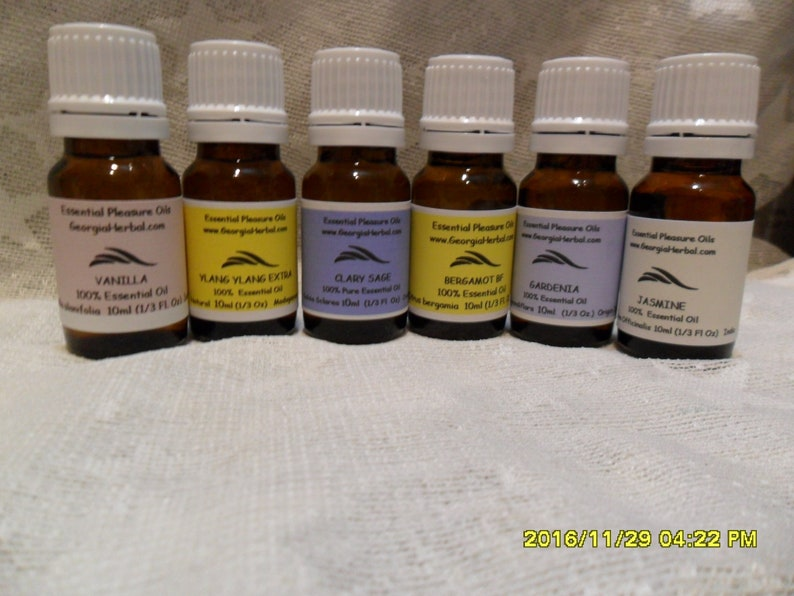 10ml Pure Essential Oil Set of 6 TOP Oils Aromatherapy image 0