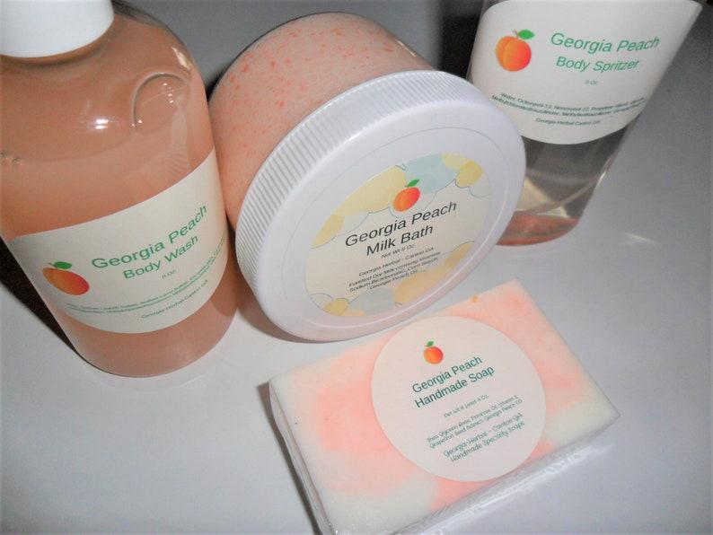 Georgia Peach Body Wash Soap. Perfume Rollon   UPick  Each image 0