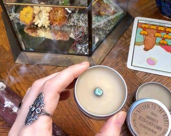 MEDITATION DIVINATION & Dream Portal Balm Elder Flower, Frankincense, Myrrh, Resin Labradorite All Purpose Chapped Skin Healing Herbal Balm
