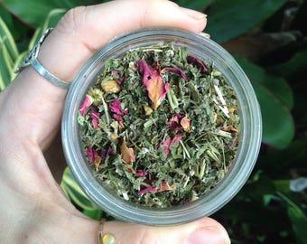 WOMB & MOON TIME Nurturing Herbal Womb Woman's Loose Leaf Mineral Tea Mineral Pregnancy + Milk Support Womb Tea