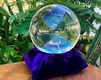 Small Medium VELVET PILLOW CRYSTAL Alter Tool Sphere & Orb Stand