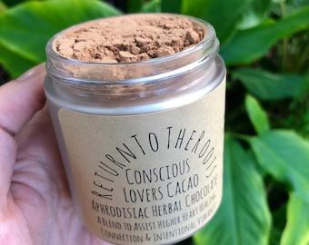 LOVE CACAO Herbal Aphrodisiac Hot Chocolate Vegan Milk Elixir Powder