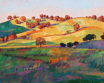 "Wine Country Paso Robles California Landscape Impressionism Ltd Ed Print Giclee by Erin Hanson 30"""