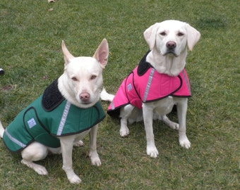 Dog Raincoats-ranging from 25 dollars to 55 dollars depending on the size by Doodlebug Duds
