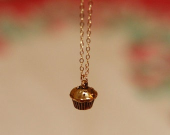 Golden Cupcake Necklace