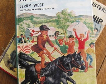 Vintage 1956 The Happy Hollisters by Jerry West Old Clipper Ship and Pony Hill Farm 2 Book Collection
