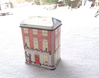 Vintage Tiny Chrismtas Tin House Tinsmith's Craft Elizabeth Greene Made in England