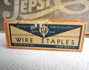 Vintage Wire Staples Old Office Supplies General Electric Tip Top