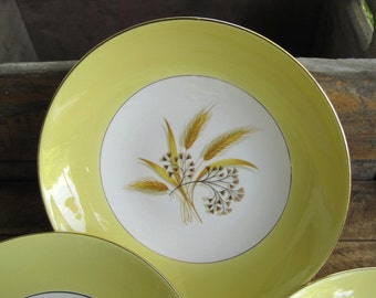 Vintage Autumn Gold Coupe Cereal Bowls set of six by Century Service Corp
