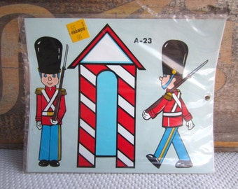 Vintage Handpainted Palace Guard Beefeater by Decorcal New Old Stock