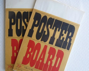 Vintage Mead Poster Board New Old Stock Packages
