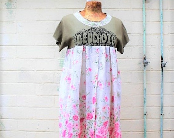 Large Leucadia Babydoll Dress/leucadia california Dress/Beach dress/Encinitas California Dress/Leucadia Farmers Market/California Surf dress
