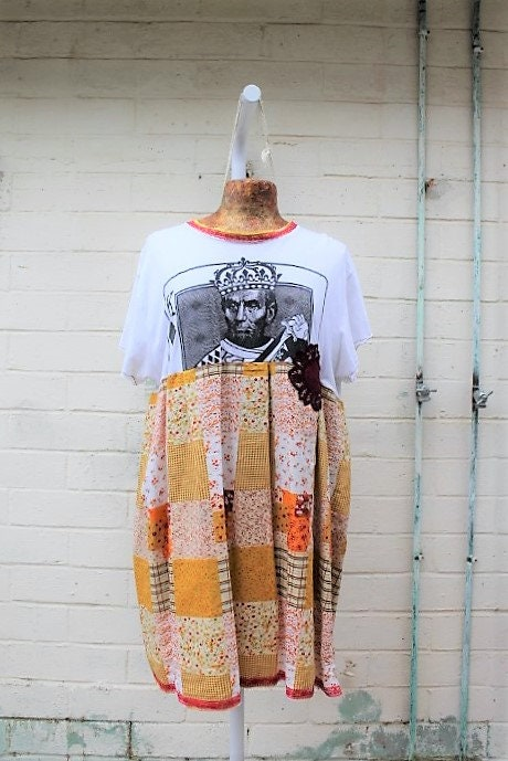 X Large Abraham Lincoln Dressplus Size Repurposed Dressupcycled