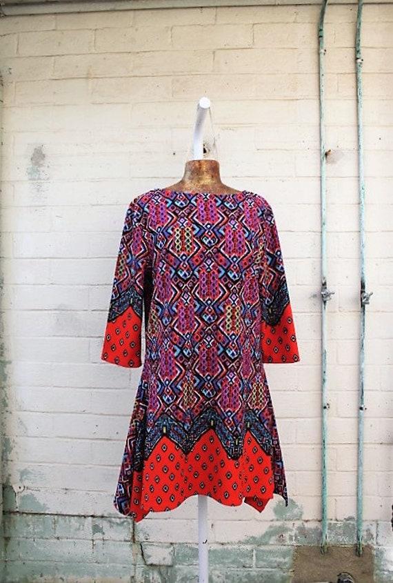 Large 1980s dress/Carol Brady Dress/The Brady Bunch/Maxi Dress/Haight Ashbury Hippie Dress/Boho Dress/Vintage dress/Music festival  Dress/