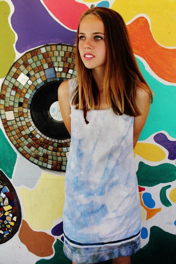 Small Grunge Punk Dress/Upcycled Clothing/Mermaid Dress/Summer Dress/Skate dress/Vintage Dress/Dolphin love/Upcycled Dress/Eurotrash girl