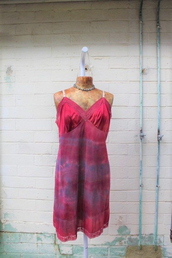Large/Plus Large Tie Dye Slip Dress/Upcycled Clothing/Anthropologie Dress/Winter is coming/Dress/Tie Dye Sundress/Tie Dye Slipdress/Dress