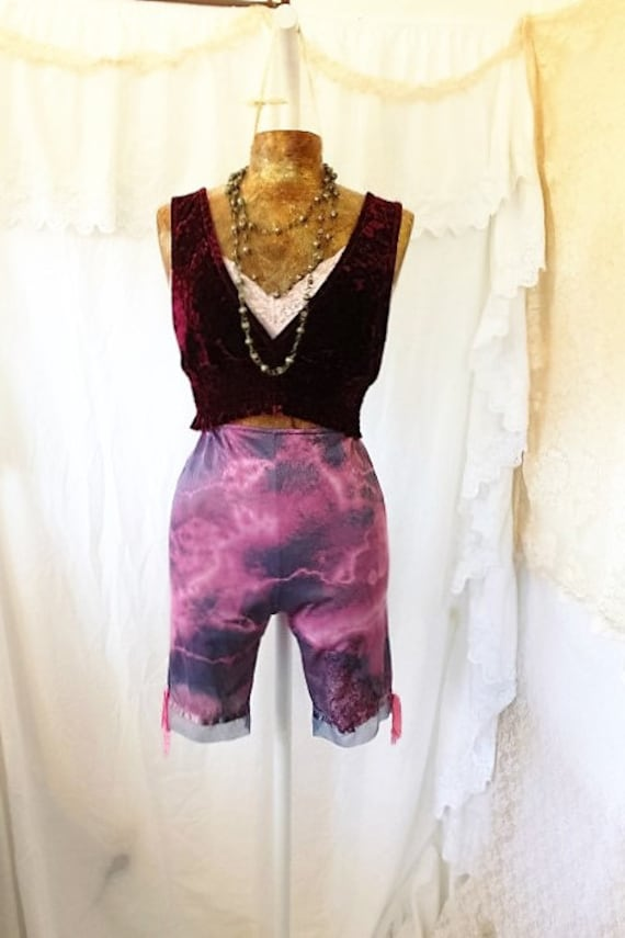 Small Tye Dye Vintage Burlesque Pantaloons/Bloomers/knickers/Yoga Pants/Music Festival Clothing/ Burning Man/Summer Concert Hippie Festival