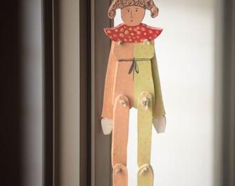 Art Wall Gift Ceramic Marionette Mobile Ceramic Marionette Handmade Wall Hangings Home & Living