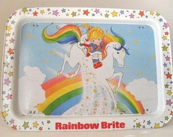 Vintage Rainbow Brite Metal Lap Tray TV Tray