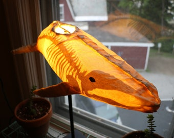 Humpback Whale Table Lamp - with skeleton!