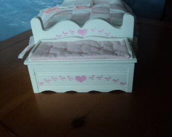 A Toy Box,  Hope Chest,  Bed Bench,for a doll bed