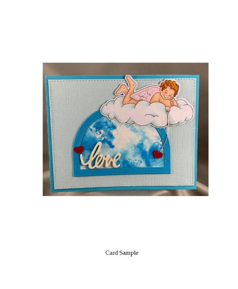 Digital Stamps-Cupid Instant Download  Digital Clip Art  image 0