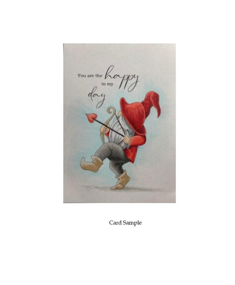 Digital Stamps-Cupid Gnome Instant Download  Digital Clip image 0