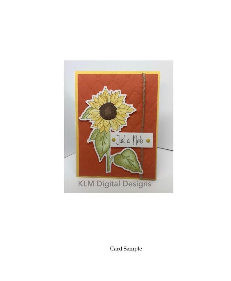 Digital Stamps Large Sunflower Instant Download  Digital image 0