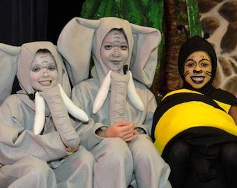 Elephant costume- childrens sizes 4 thru 10