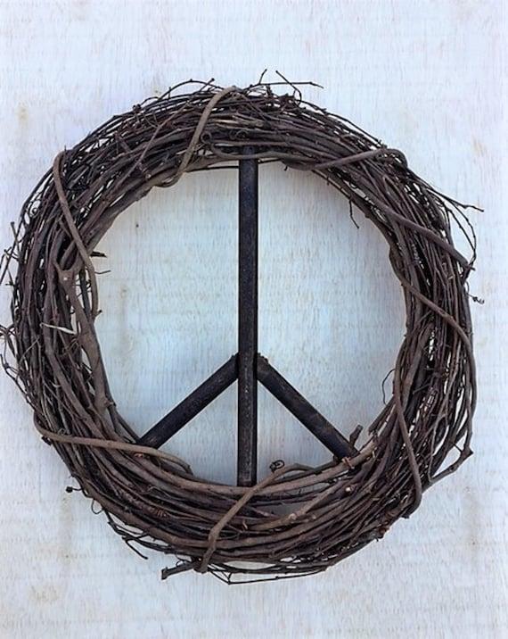 18 Inch Peace Sign Wreath Christmas Wreath Peace Sign | Etsy