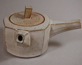 Soda/wood fired faceted teapot