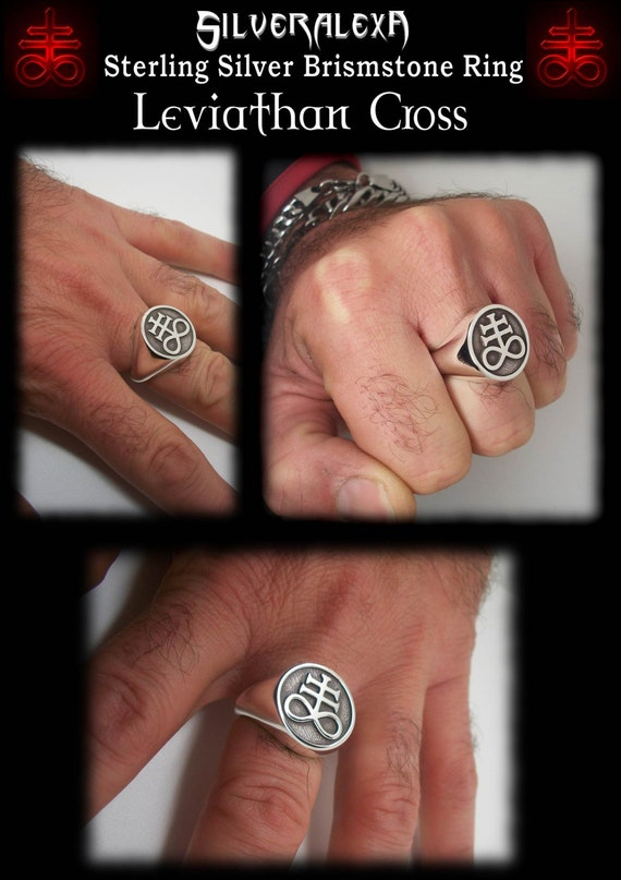 Brimstone ring - Sterling Silver Brimstone Ring - ALL SIZES - Leviathan  Cross