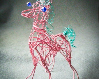 Customized Pink Unicorn Ornament, Unicorn Figurine, Unicorn Collectible Gift, Personalized Unicorn, Mythical Animal, Unicorn Decor