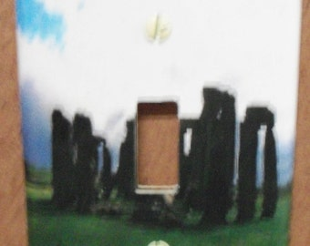 stone henge single switch plate cover - free shipping - 1022PGW