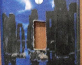 stone henge - water single switch plate cover - free shipping - 1014PGW