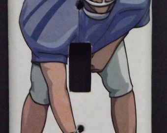 Football Center single switch plate cover - free shipping - 1010SPT