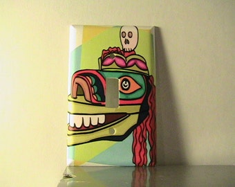Mexican Mask Skeleton Day of the Dead Single Switchplate Cover - Free Shipping - 1004DD