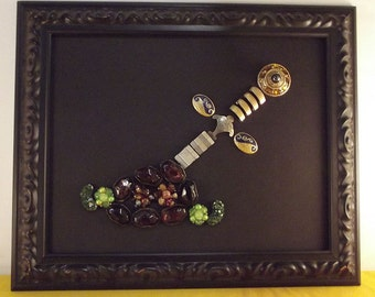 Sword in the Stone jewelry collage, free shipping