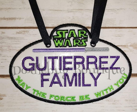 disney star wars stroller tag etsy