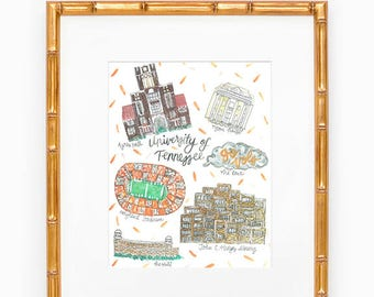 University of Tennessee Map Print