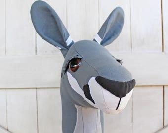 "Kangaroo Ride-On Toy Stick Horse Hobby Horse ""Sheila"" Toddler Size Ready to Ship"