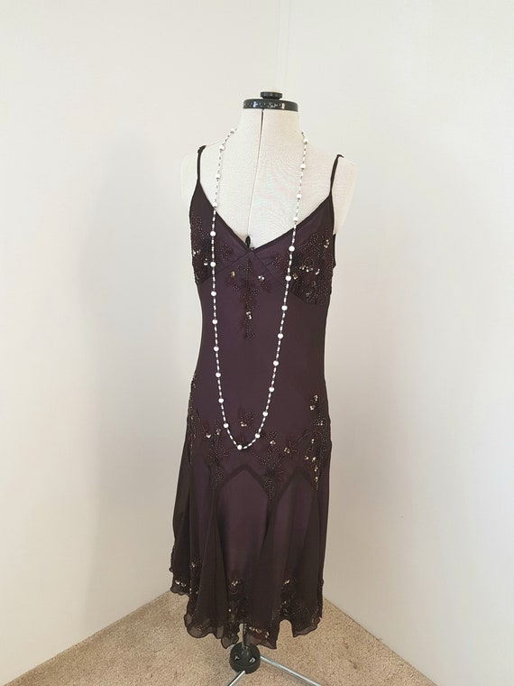 vintage beaded dress, evening dresses, 90s does 20
