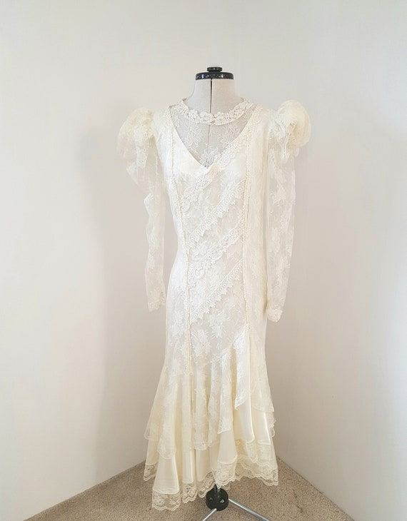 edwardian dress, 80s does victorian, EXCEPTIONAL d