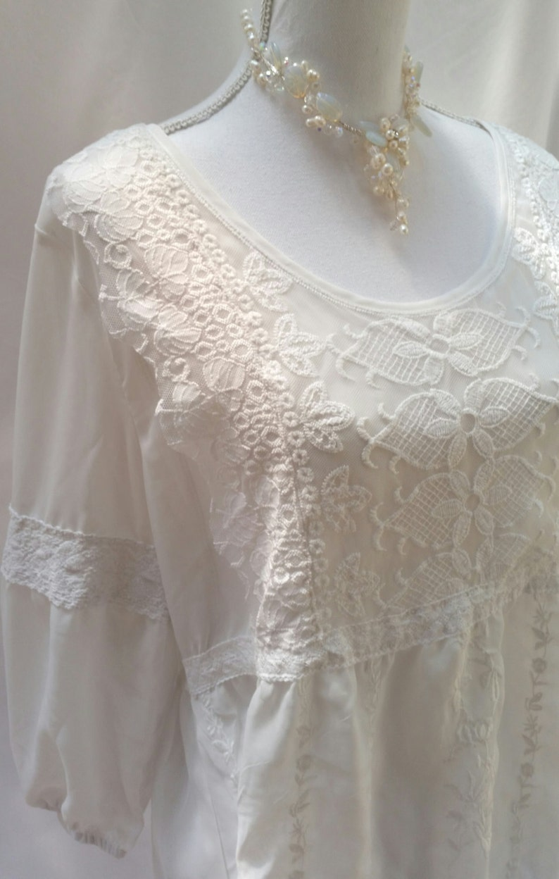3aaf70383ee Beige lace top ivory lace blouse gypsy top hippie clothing