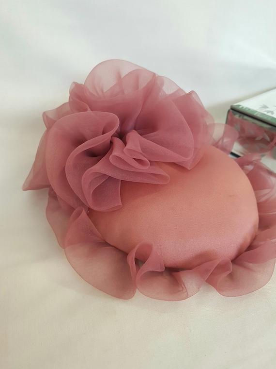 pink hat, frou frou, victorian edwardian look, 80s