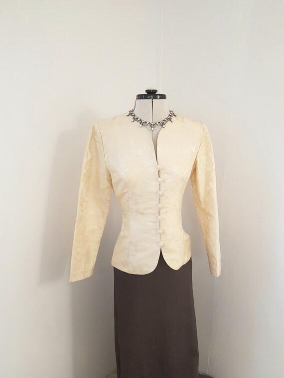 vintage victorian jacket, 80s does victorian, AMAZ
