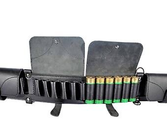Shotgun Shell Bandolier Cartridge Belt Hunting Rifle Bandoleer 12 or 16 Ga HANDMADE New Genuine Leather