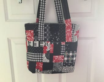 Black, White and Red Purse