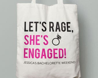 Bachelorette Tote Bag, Custom Colors, Bachelorette Gifts, Maid of Honor Gifts, Bachelorette Party, Wedding Tote Bag, Gift For Bridesmaid